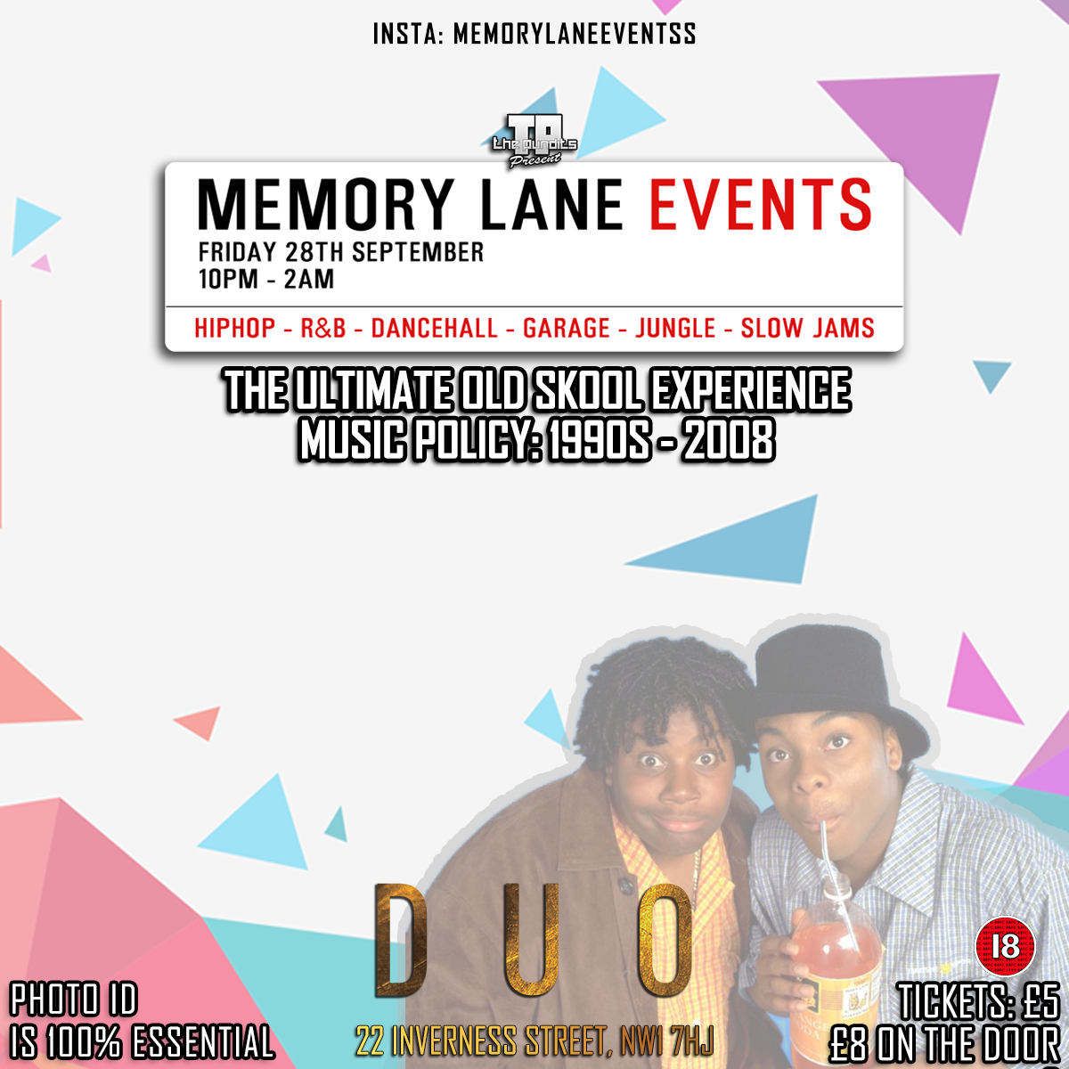 Memory Lane Duo Event Flyer